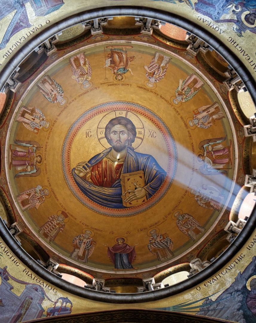פרסקו ישו על תקרה