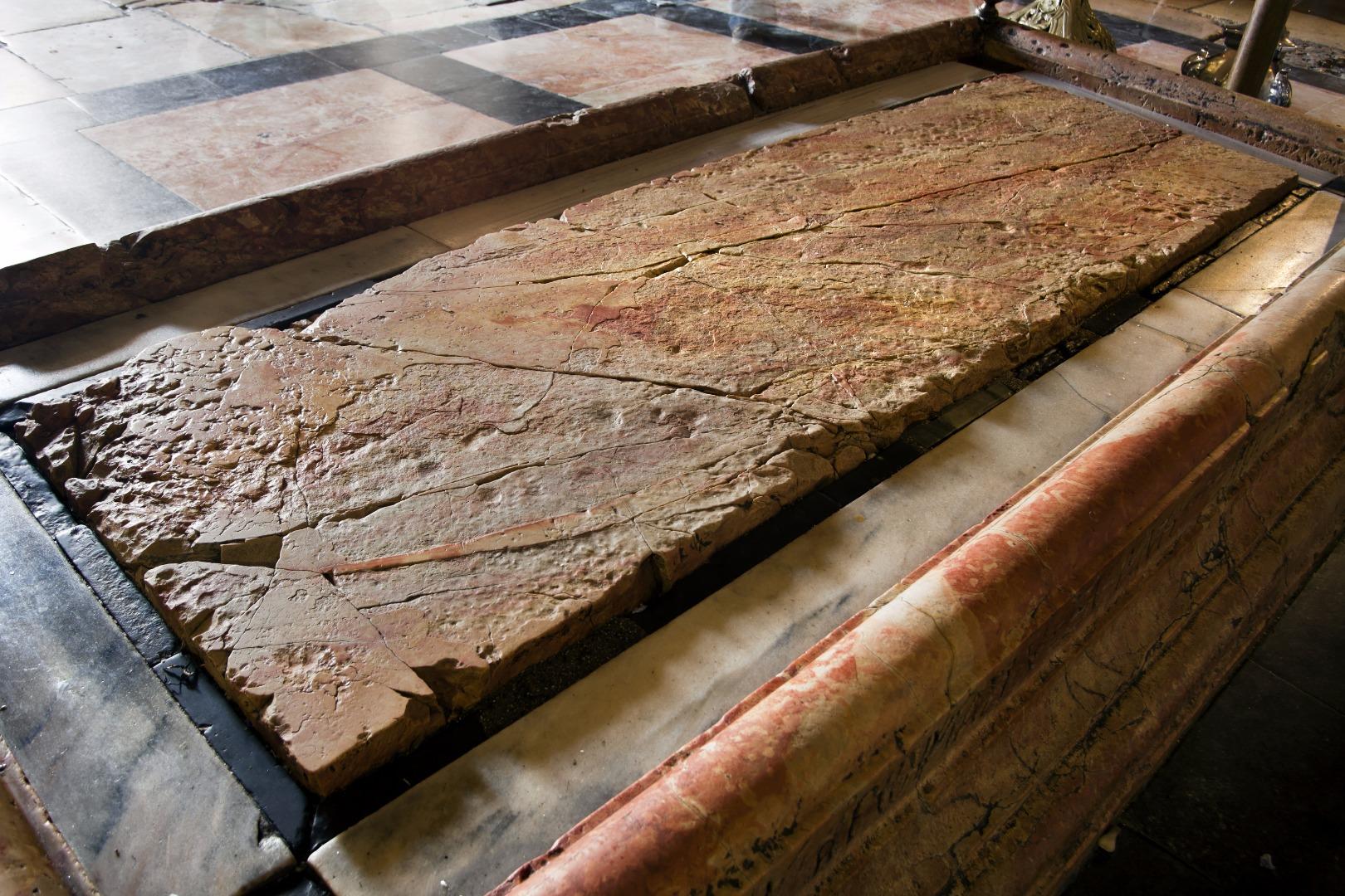 03-אבן המשיחה בכנסית הקבר